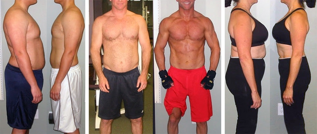 Before and After Photos of Actual Clients of the TheissCare Health and Physical Fitness Program