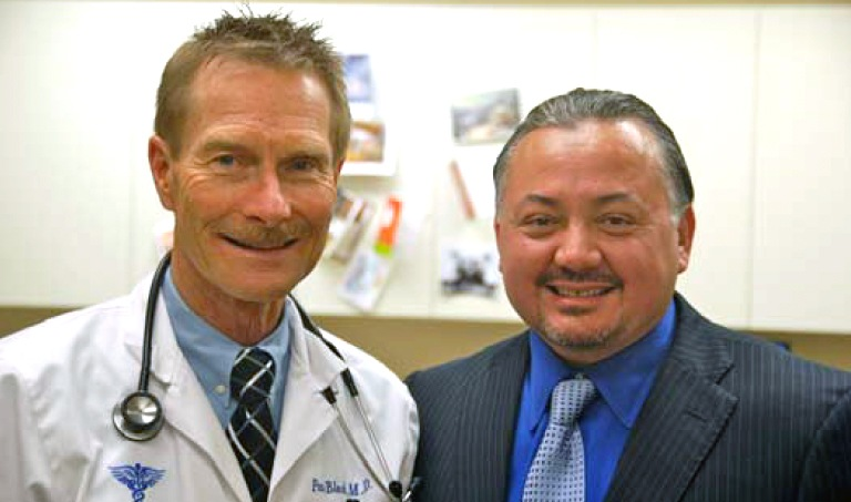 Brian with Dr. Paul Block, MD. FACP, FCCP