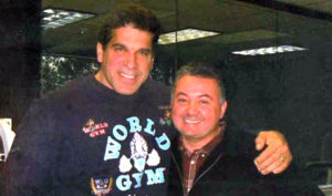 "Brian with Lou Ferrigno, Actor, Author, ""Mr. Universe"""