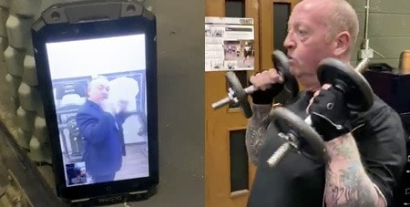 Brian also trained Bren's best friend Danny exclusively over FaceTime. Brian was in California and Danny was in Ireland.